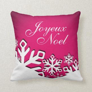 Fuschia del navidad el | de Joyeux Noel de la Cojín