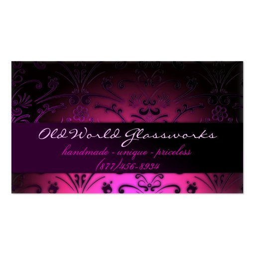 Fuschia Dreams Double-Sided Standard Business Cards (Pack Of 100)