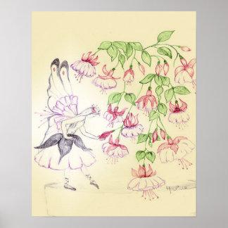 'Fuschia Fairy' Poster