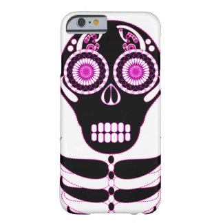 Fuschia Fiesta Skull White Barely There iPhone 6 Case