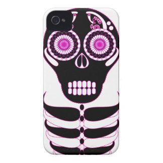 Fuschia Fiesta Skull White Case-Mate iPhone 4 Case