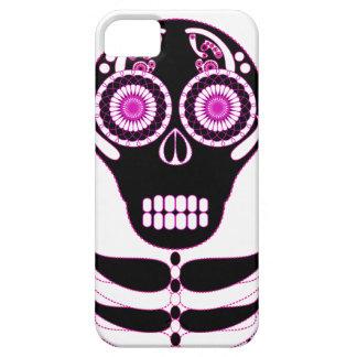 Fuschia Fiesta Skull White iPhone 5 Cover