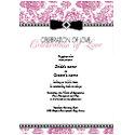 Fuschia Floral Wedding Invitation invitation
