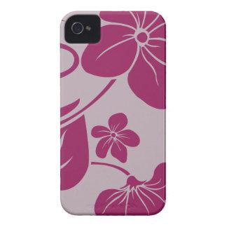 Fuschia Flowers iPhone 4 Covers