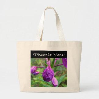 Fuschia Fury; Thank You Jumbo Tote Bag