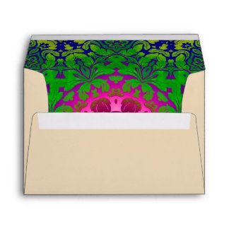 Fuschia green mandala meditation yoga instructor envelope