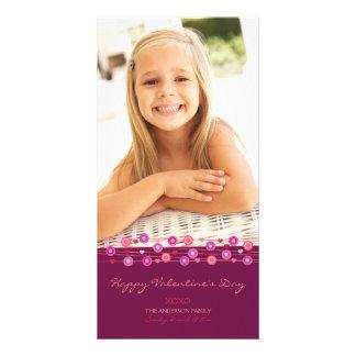 Fuschia Heart Garland Valentine B Card