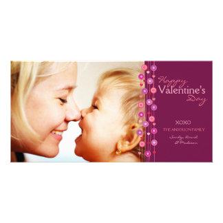 Fuschia Heart Garland Valentine Card