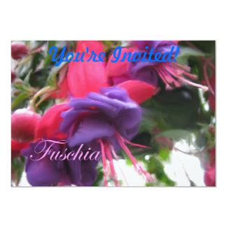 """Fuschia Invitación 5"""" X 7"""""""