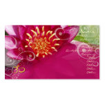 Fuschia lotus + pearly swirls Double-Sided standard business cards (Pack of 100)