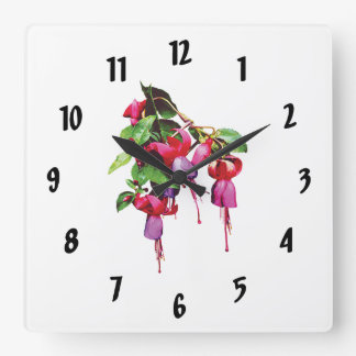 Fuschia, Marshia Square Wall Clock