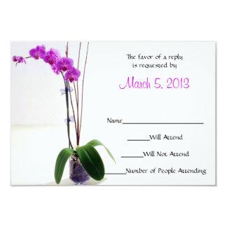 Fuschia Orchid RSVP / Response Card