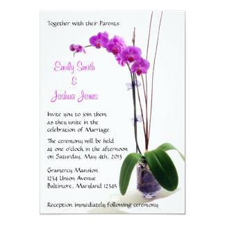 Fuschia Orchid Wedding Invitations