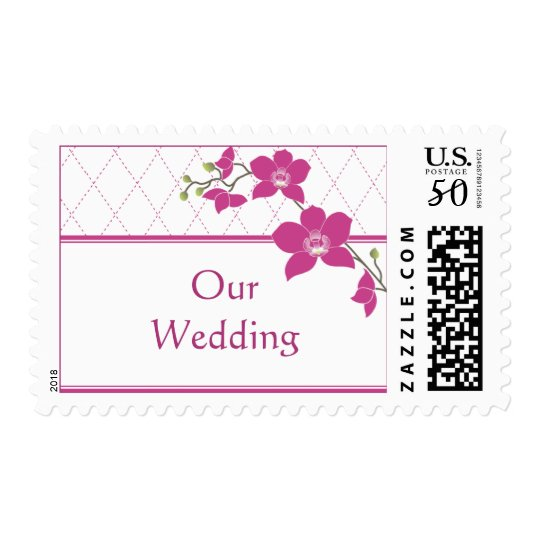 Fuschia Orchid Wedding Stamps