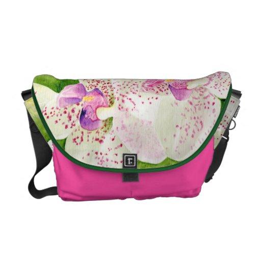 Fuschia Orchids Messenger Bag