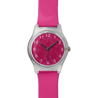 Fuschia pattern watch