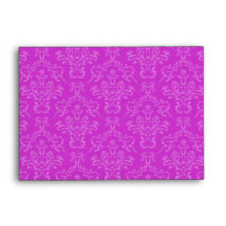 Fuschia Pink A6 Damask Envelopes