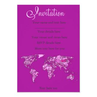 Fuschia pink map card