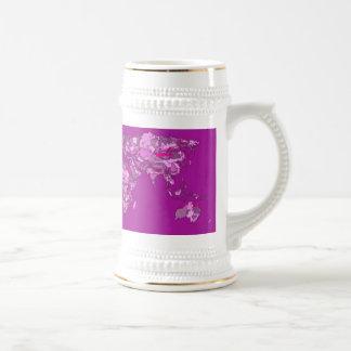 Fuschia pink map mug