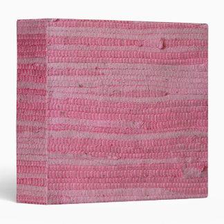 Fuschia Pink Rag Rug Avery Binder