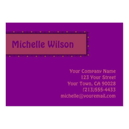 Fuschia purple pink mod box business card templates