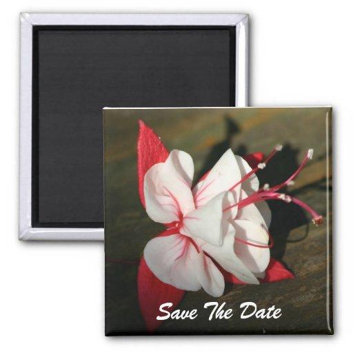 Fuschia Save The Date Magnet