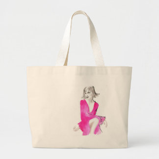 Fuschia Silk Jumbo Tote Bag