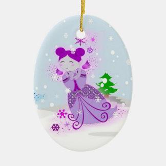 Fuschia Snowdoll Ornament