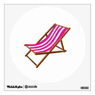 fuschia striped wooden beach chair.png wall sticker