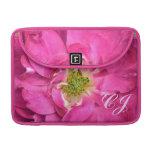 Fuschia subió, los pétalos de la flor, estambres,  fundas para macbook pro