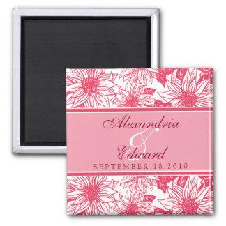 Fuschia Sunflowers Wedding Favor Magnet Gift