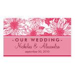 Fuschia Sunflowers Wedding Website Card Business Card Templates