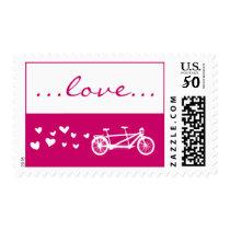 Fuschia Tandem Bike Love Stamp