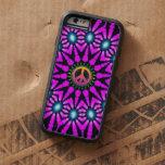 Fuschia Tie-Dye Peace Sign iPhone 6 Case