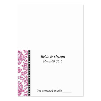 Fuschia Wedding Placecards Large Business Cards (Pack Of 100)
