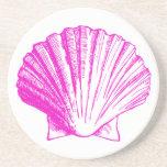 Fuscia Pink Seashell Coaster