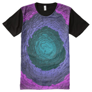 Fused Glass Abstract All Over T-shirt