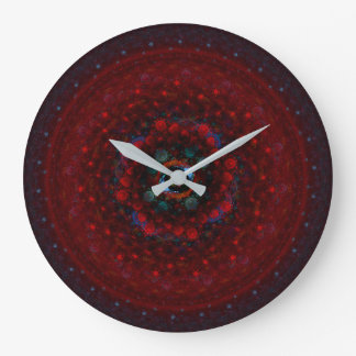 Fused Mandala Large Clock