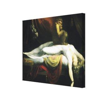 Fuseli's Nightmare Vintage Fine Art Wrapped Canvas wrappedcanvas