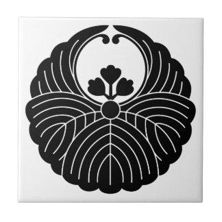 Fusen-style paulownia ceramic tile