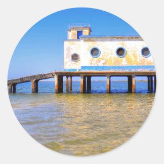 Fuseta beach classic round sticker
