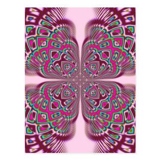 Fusha Pink Flower Postcard