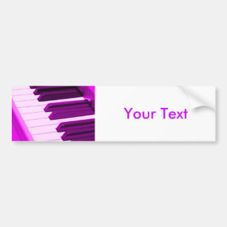 Fusha Pink Piano Or Organ Keyboard Bumper Sticker