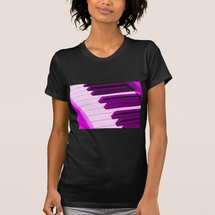Fusha Pink Piano Or Organ Keyboard T-Shirt