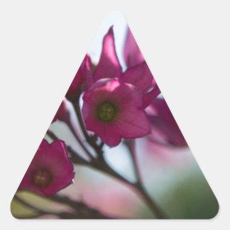 Fushcia Flower Triangle Sticker