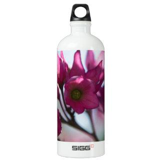 Fushcia Flower Water Bottle