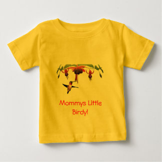Fushia and Hummingbird Baby T-Shirt