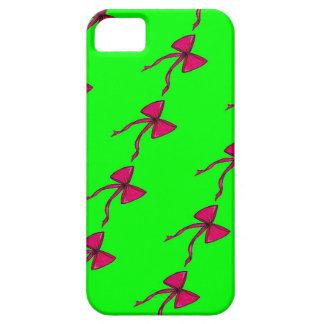 Fushia Bows on Green iPhone Case iPhone 5 Case