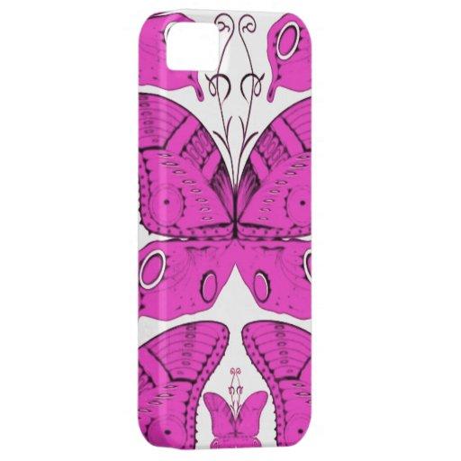 Fushia Butterflies iPhone 5 Cover