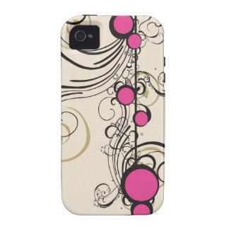 Fushia circles Case-Mate Case iPhone 4 Cases